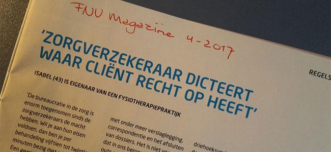 FNV Magazine: Zorgverzekeraar dicteert waar cliënt recht op heeft